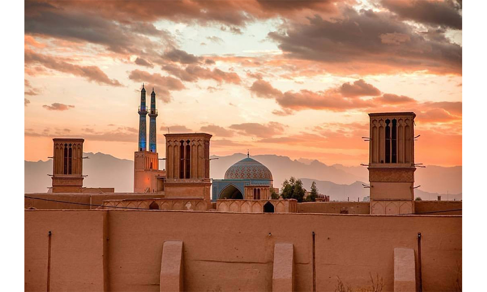 Historical city of Yazd in Iran