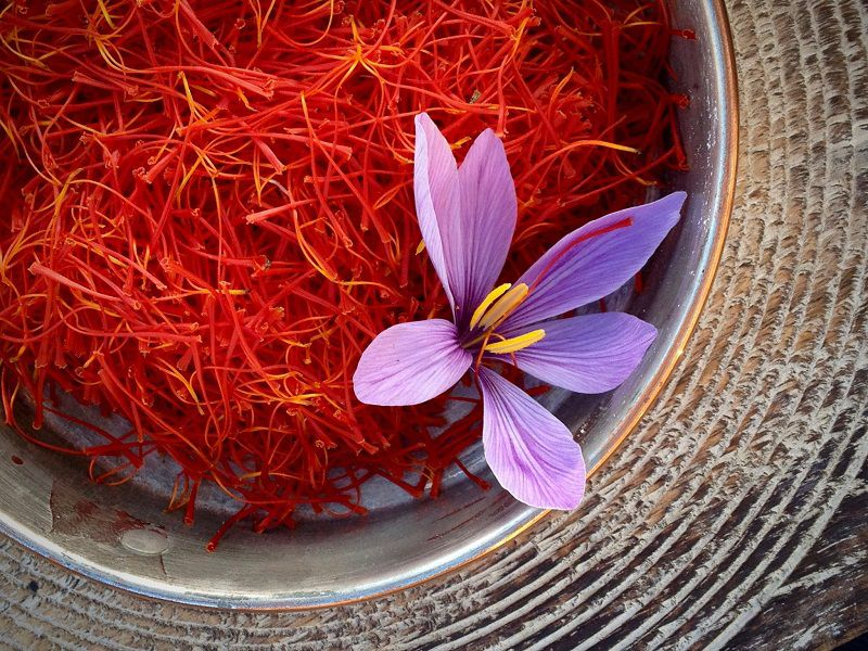 A basket full of Saffron